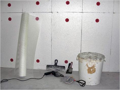 Процесс утепления стен
