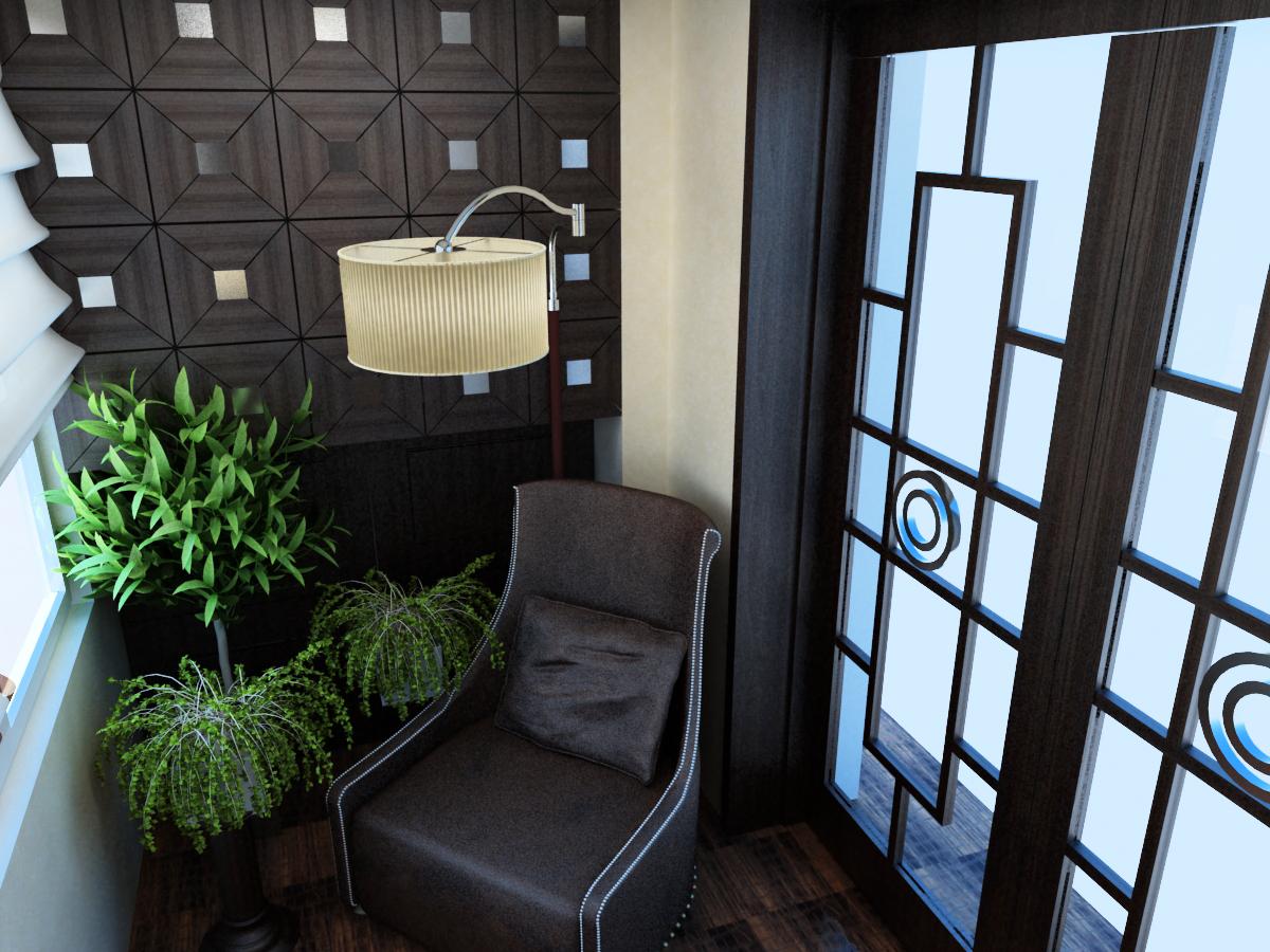 Балкон-склад или отдельная комната.