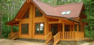 лазури при строительстве деревянного дома